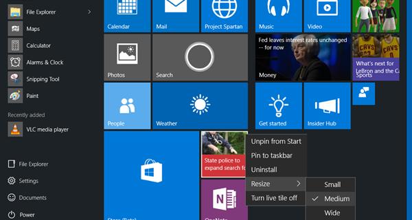 customize start menu 600x321 - نحوه سفارش کردن منو استارت در ویندوز 10